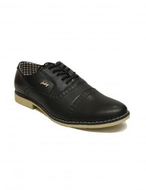 Black Laced Gents Smart Formal Heeled Shoes