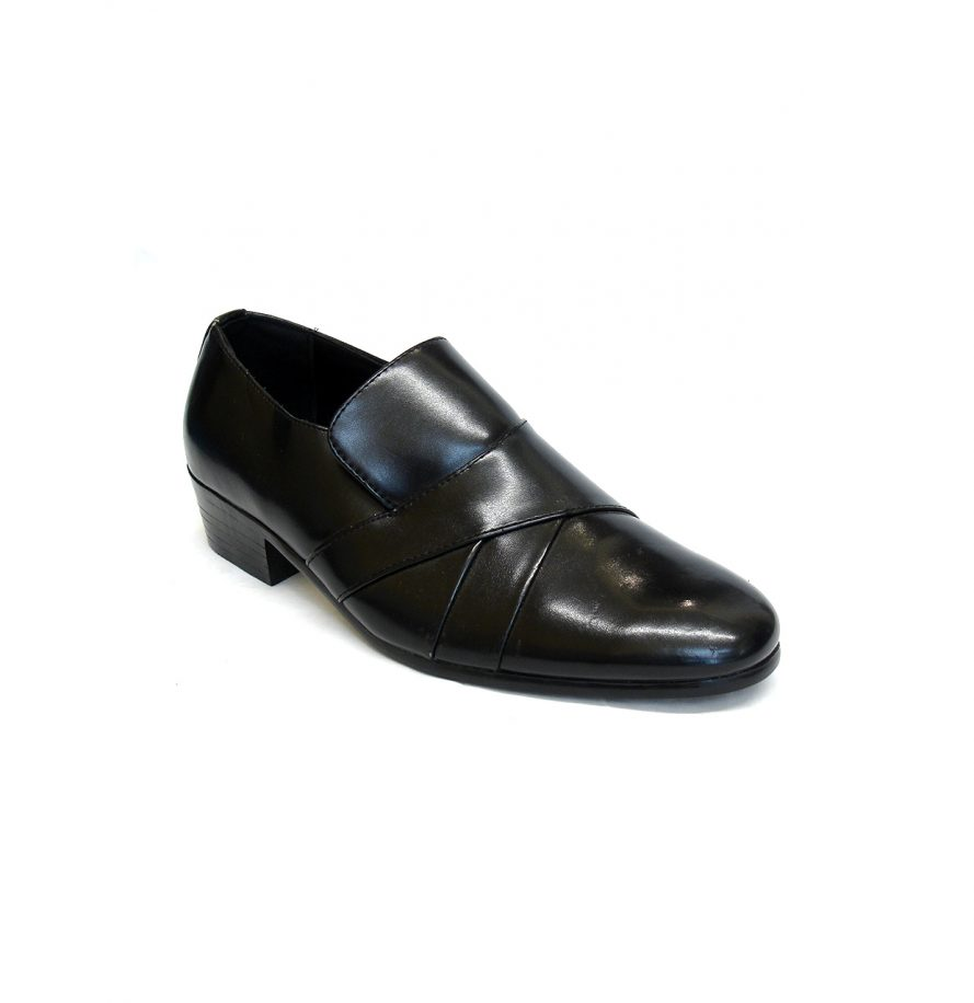 Cuban Style Smart Heeled Shoes - Black