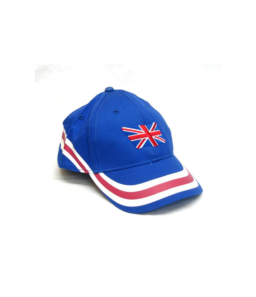 Cap With English Flag and Stripes In Blue