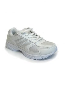 White Ladies Trainer Shoes With Quick Fasten