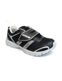 Black Men Trainer Shoes With Quick Fasten