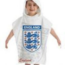 England Football Cotton Towel Poncho