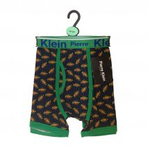 "Novelty Cotton Blend Black ""POW"" Men Trunks"