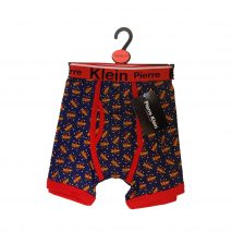 "Novelty Cotton Blend Blue ""ZOOM"" Men Trunks"