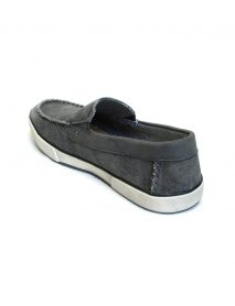 Grey Men Flat Shoes Loafers