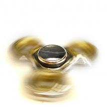 Fidget Spinner - Metallic White and Yellow