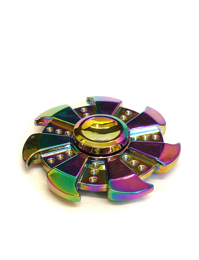 Fidget Spinner - Metallic Ninja Rainbow Mix