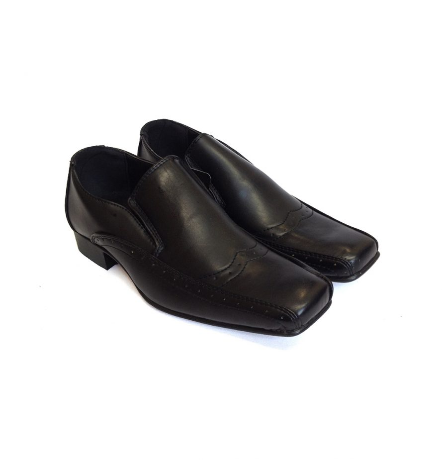 Smart Boys Heeled Shoes In Black