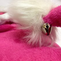 Christmas Slippers With Jingle Bell In Pink
