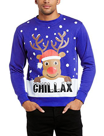 Jumper For Christmas With Reindeer - Purple
