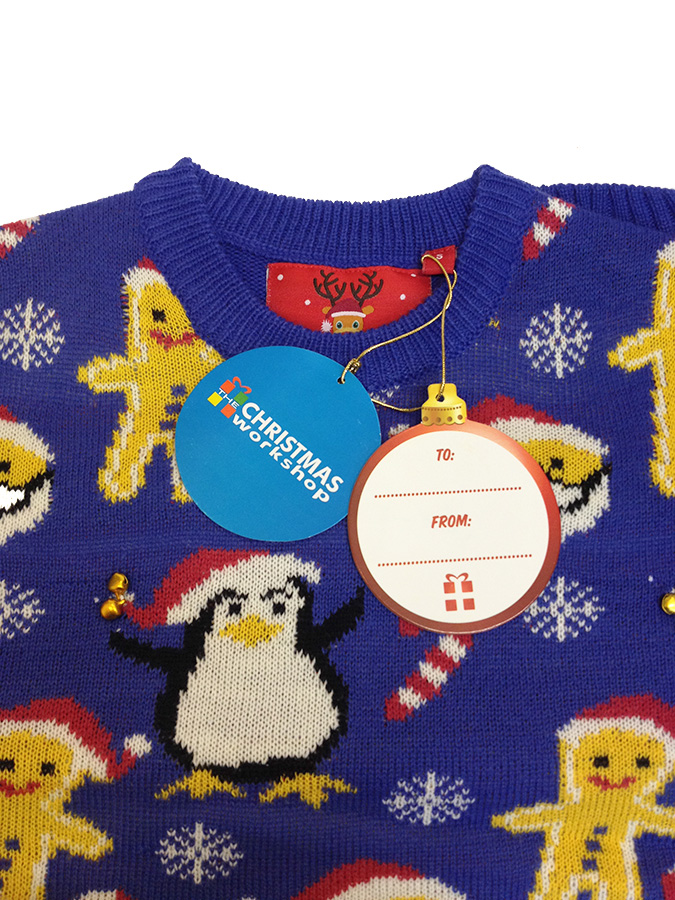 Jumper With Santa And Gingerbread Man