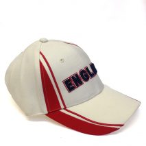 Cap - Warm White Cotton - England Twinstripe