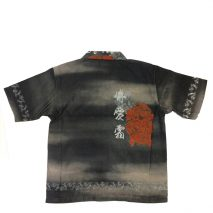 Oriental Print Men Shirt - Black