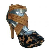 Black, Brown and Beige leopard Printed High Heels