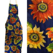Apron Decorated With Summer Flowers