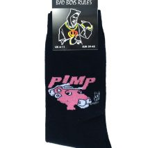 Novelty Men Ankle Socks - Bad Boys Rule - Devil