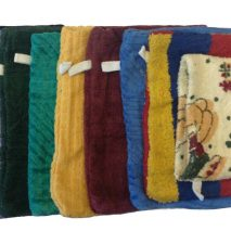 6x Assorted 100% Cotton Body Wash Scrub Gloves