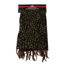 Ladies -Brown- Stylish Fleece Scarf with Fringes