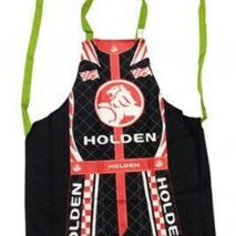 Apron Black-red with Writing and Image