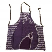 Apron Purple with Aubergine Imprint and Writing
