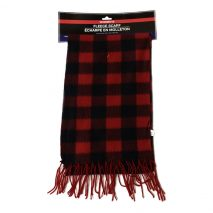 Ladies -Red- Stylish Fleece Scarf with Fringes