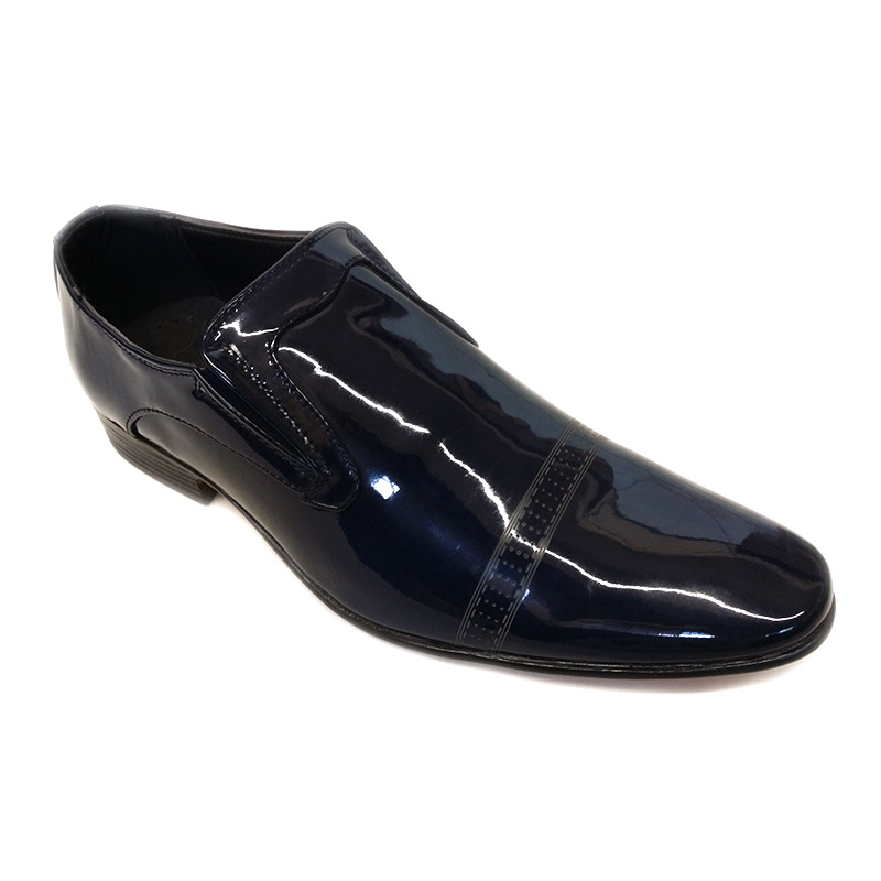 00901 - Navy Blue - Men's Formal Lase less Shoes