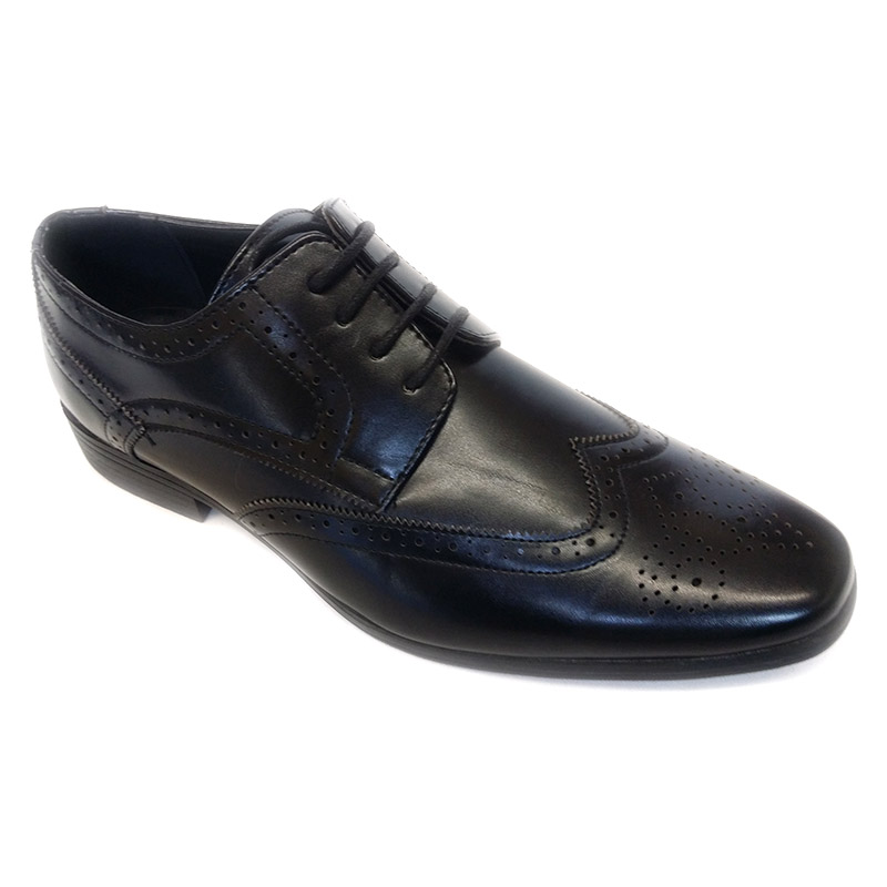 501 - Black - Men's Formal Dot Design Shoes
