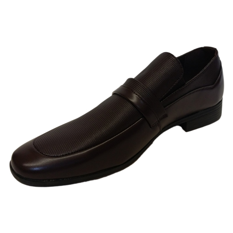 504 - Brown - Men's Formal Shoes with Strap