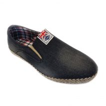 80233 -Black- Men's Stylish Casual Denim Shoes UK Flag