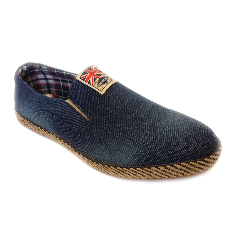 80233 -Blue- Men's Stylish Casual Denim Shoes UK Flag
