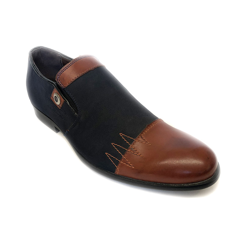918105 -Blue/Brown- Men's Stylish Casual Leather Shoes