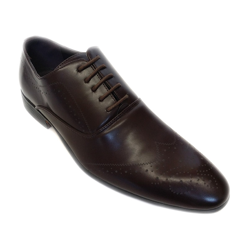 962 - Brown - Men's Formal Light Design Shoes