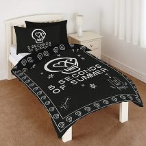 5 Seconds of Summer 5SOS, Black - Single Bedding Set